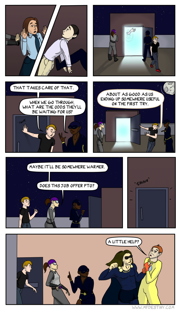Pete never closes a door without opening another weird glowing door
